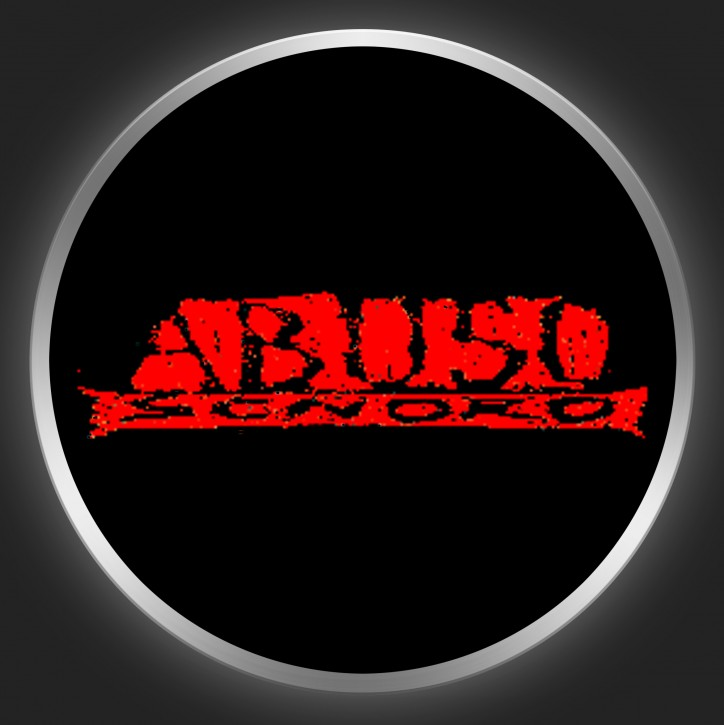 ABUSO SONORO - Red Logo On Black Button