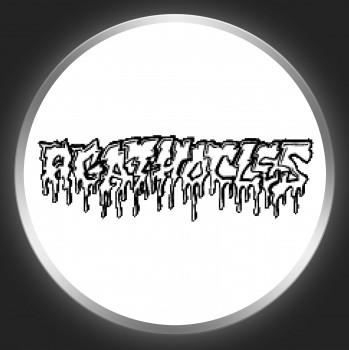 AGATHOCLES - Logo On White Button