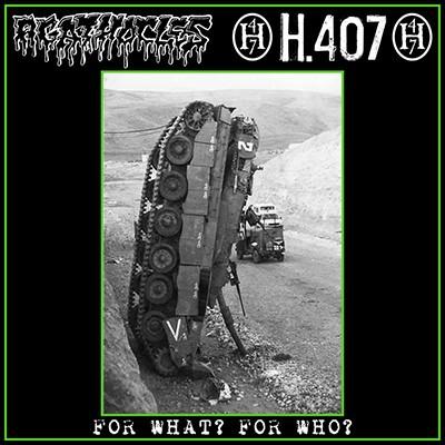 AGATHOCLES / H.407 - Split LP (Green Transparent)