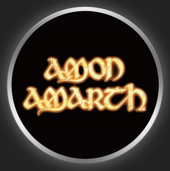 AMON AMARTH - Golden Logo On Black Button