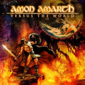 AMON AMARTH - Versus The World LP (Orange / Red Marbled)