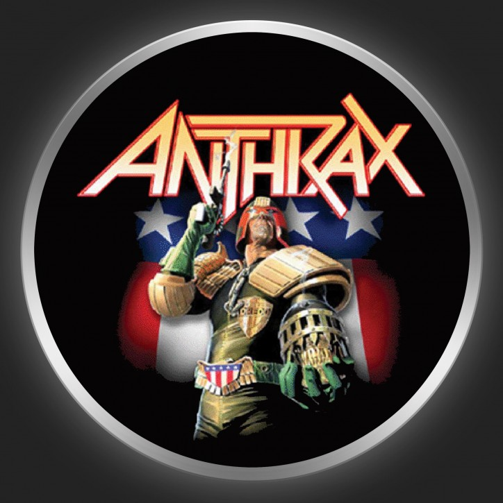 ANTHRAX - Judge Dredd Button
