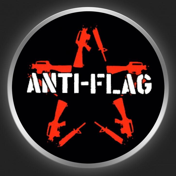 ANTI-FLAG - Logo + Star Button