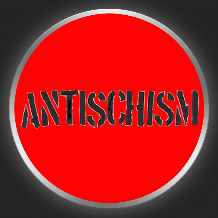 ANTISCHISM - Black Logo On Red Button