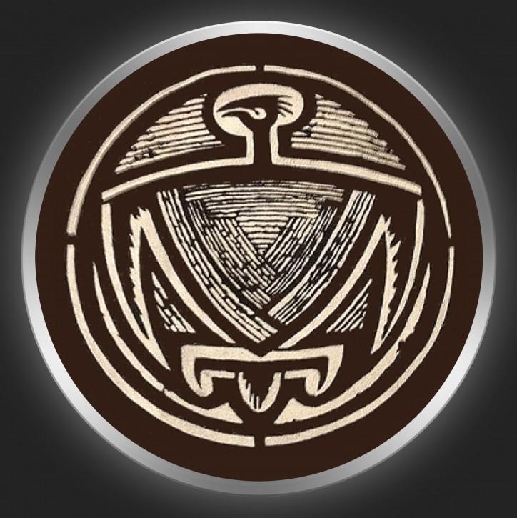 ANTISCHISM - Logo On Brown Button