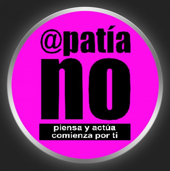 APATIA NO - Black Logo On Purple Button