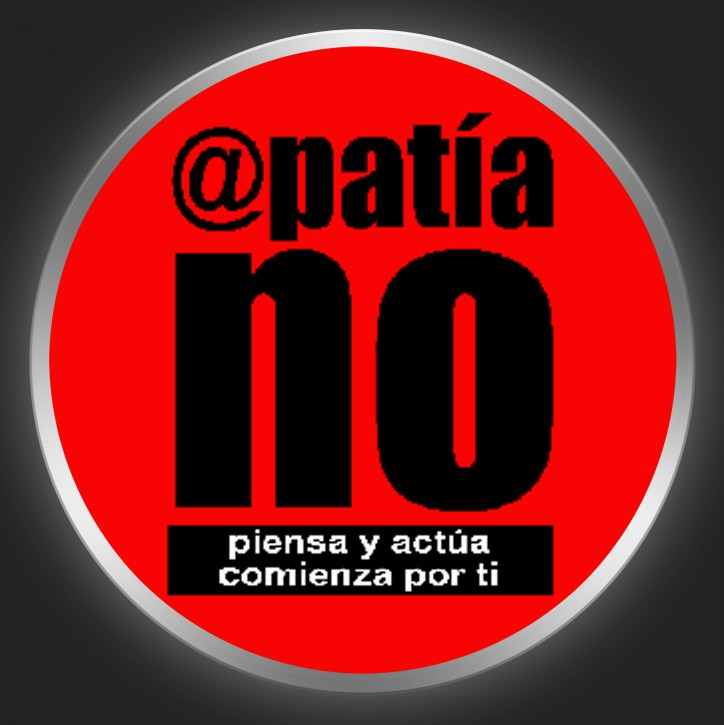 APATIA NO - Black Logo On Red Button