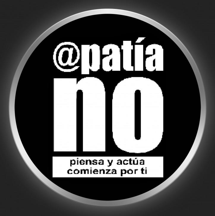 APATIA NO - White Logo On Black Button