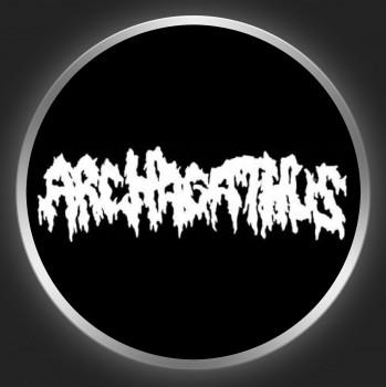 ARCHAGATHUS - White Logo On Black Button