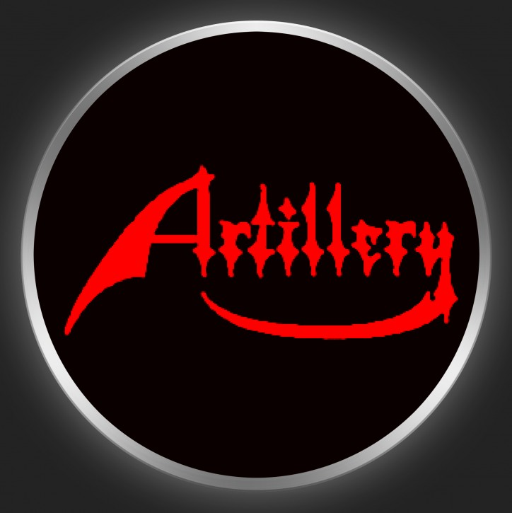 ARTILLERY - Red Logo On Black Button