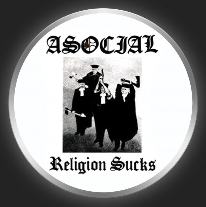 ASOCIAL - Religion Sucks Button