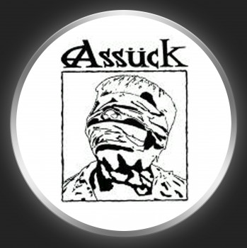 ASSÜCK - Anti-Capital Black On White Button