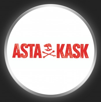 ASTA KASK - Red Logo On White Button