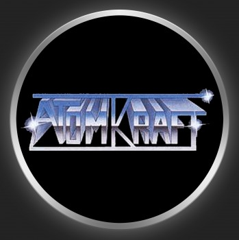 ATOMKRAFT - Metallic Logo On Black Button