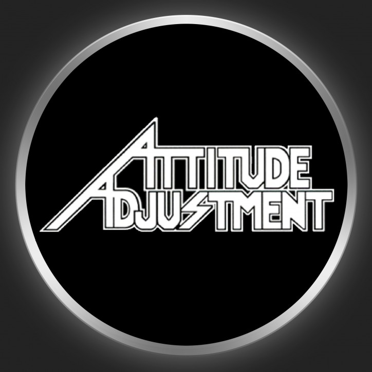 ATTITUDE ADJUSTMENT - White Logo On Black Button