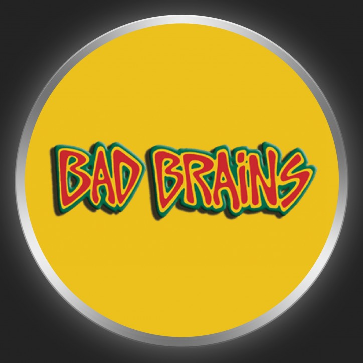 BAD BRAINS - Coloured Logo On Yellow Button