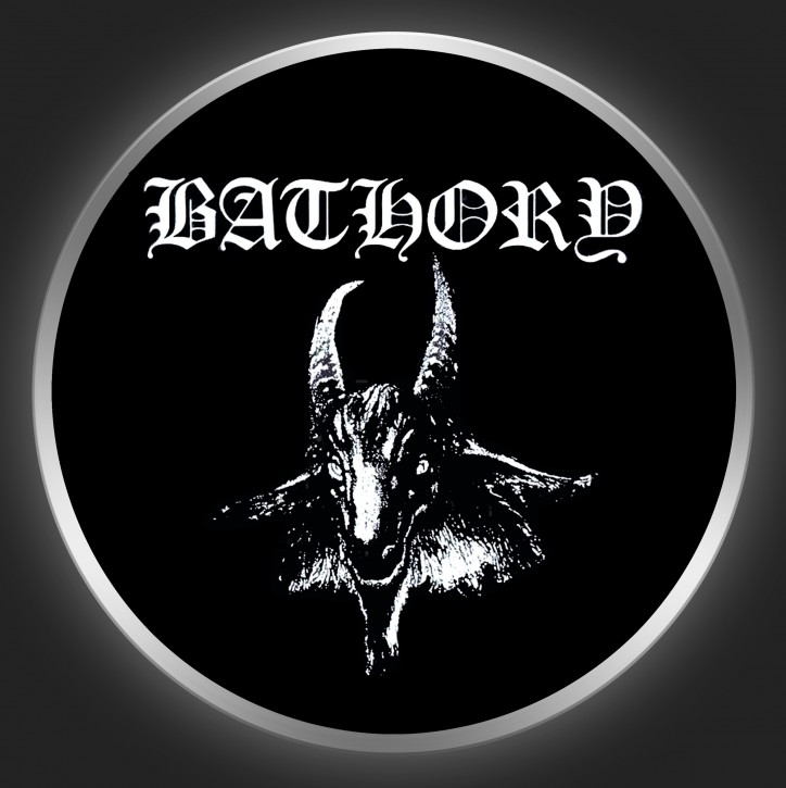 BATHORY - Logo + Goat Button