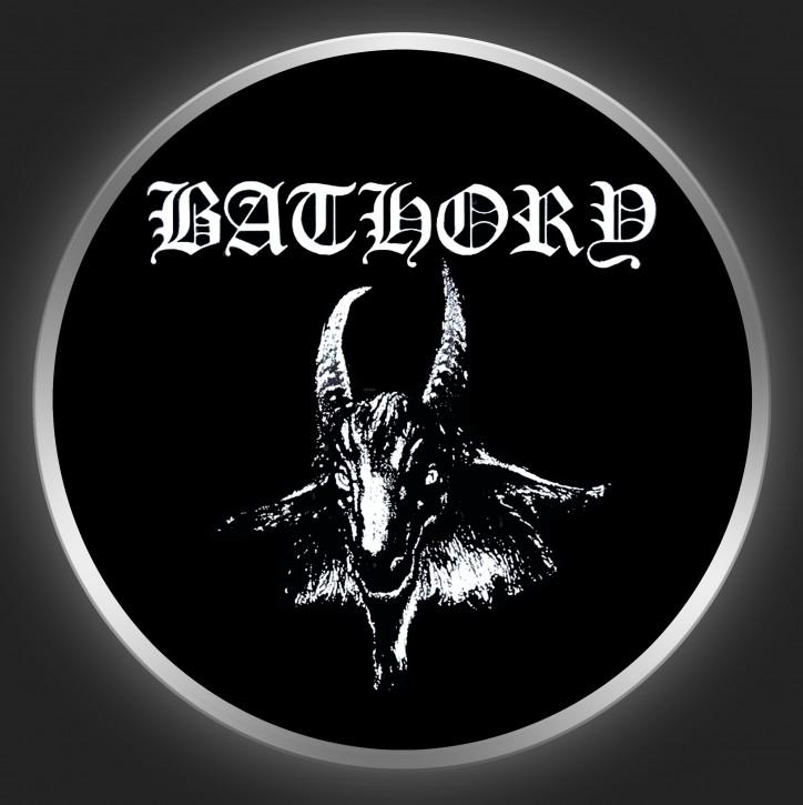 BATHORY - Logo + Goat Button