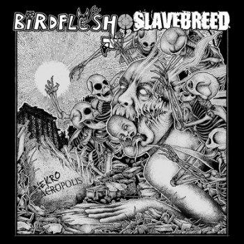 BIRDFLESH / SLAVEBREED - Split EP (Green / Black Marbled)