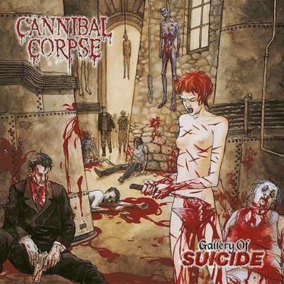 "CANNIBAL CORPSE - Gallery Of Suicide LP (Opaque ""Dead Gold"" Marbled)"