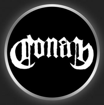 CONAN - White Logo On Black Button