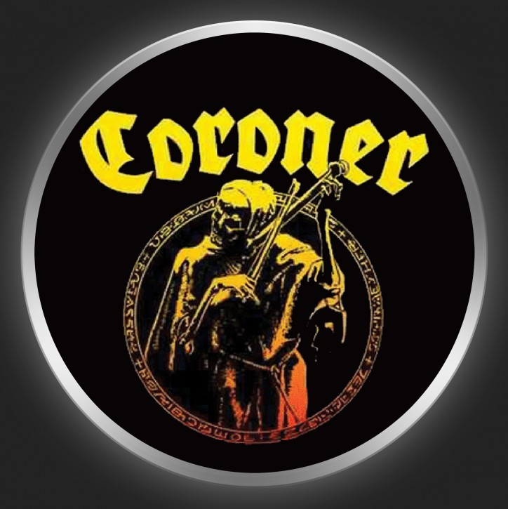 CORONER - Punishment For Decadence Button