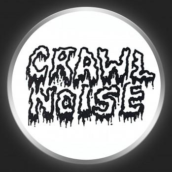 CRAWL NOISE - Black Logo On White Button