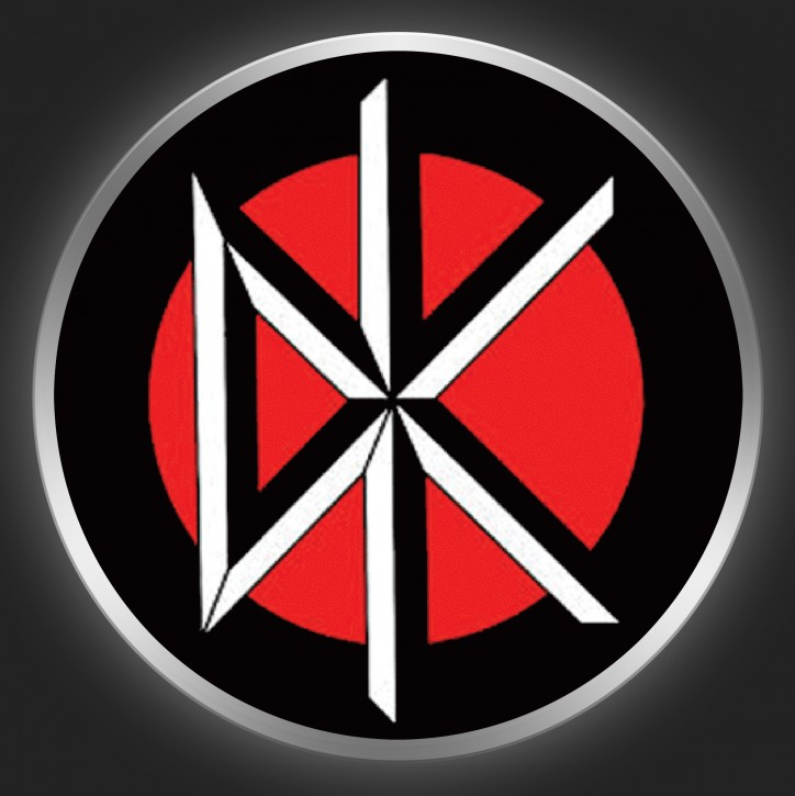 DEAD KENNEDYS - Logo On Red / Black Button