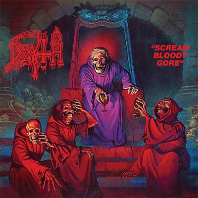 Death - Scream Bloody Gore LP (Clear With Blood Red Pinwheels And Splatter)