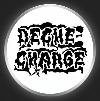 DECHE-CHARGE - Black Logo On White Button