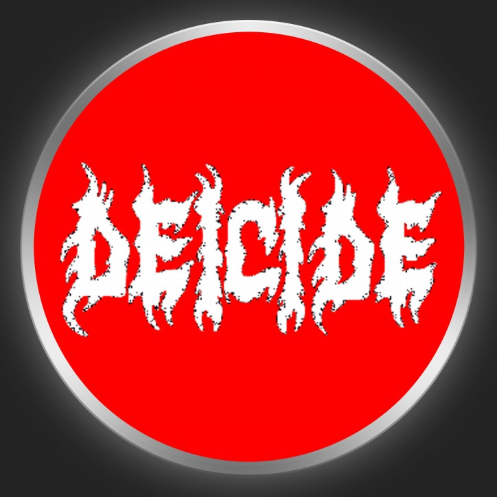 DEICIDE - White Logo On Red Button