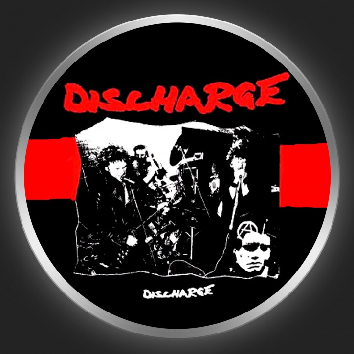 DISCHARGE - Band Photo Button