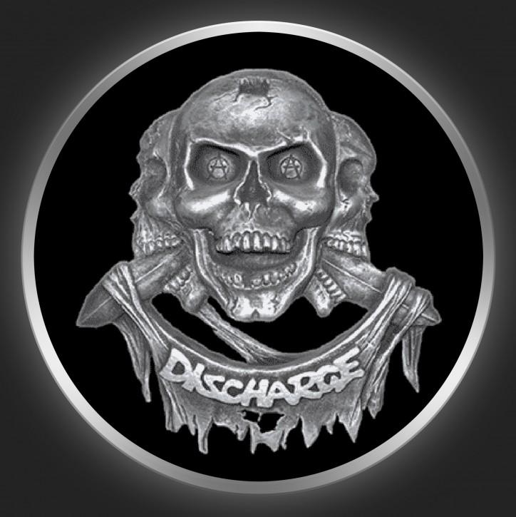 DISCHARGE - Skulls Button