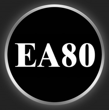 EA 80 - White Logo On Black Button