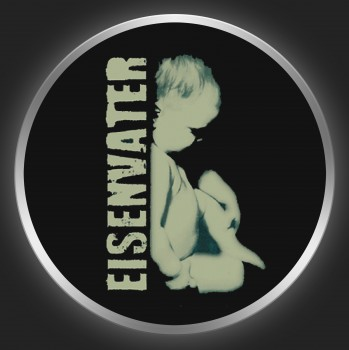 EISENVATER - Grey Logo + Baby On Black Button