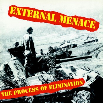 EXTERNAL MENACE - The Process Of Elimination LP (Yellow / Red Splatter)