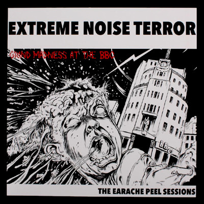 EXTREME NOISE TERROR - Grind Madness At The BBC - The Earache Peel Sessions LP (Blue / White Splatter)