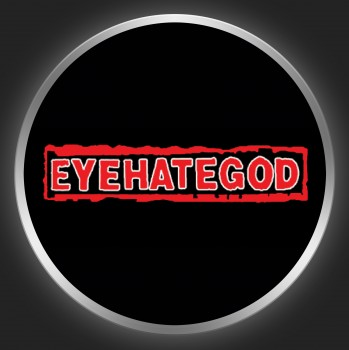 EYEHATEGOD - Red Logo On Black Button