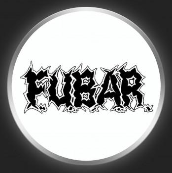 F.U.B.A.R. - Black Logo On White Button