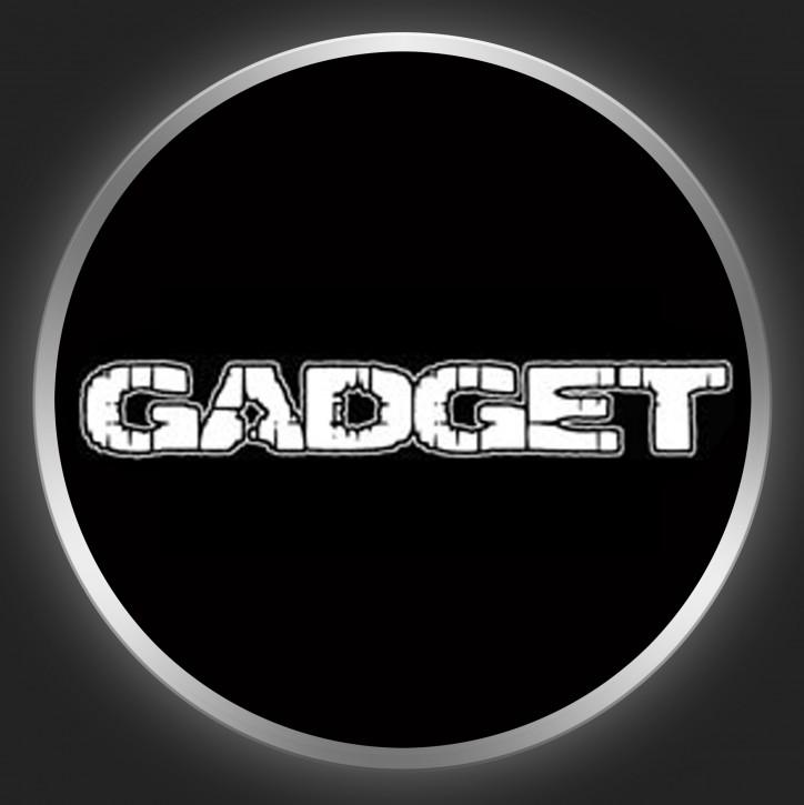 GADGET - White Logo On Black Button