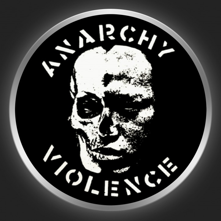 G.I.S.M. - Anarchy & Violence Button