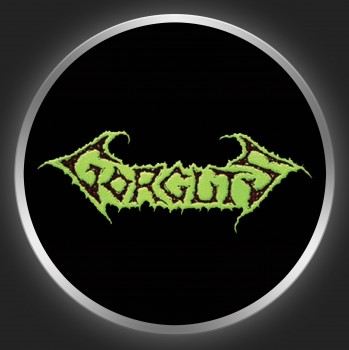 GORGUTS - Green Logo On Black Button