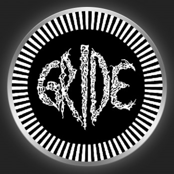 GRIDE - White Logo 2 On Black Button