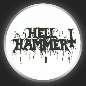 HELLHAMMER - Black Logo Button