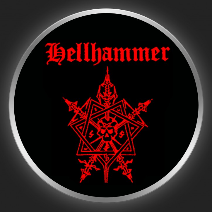 HELLHAMMER - Logo + Octagram Button