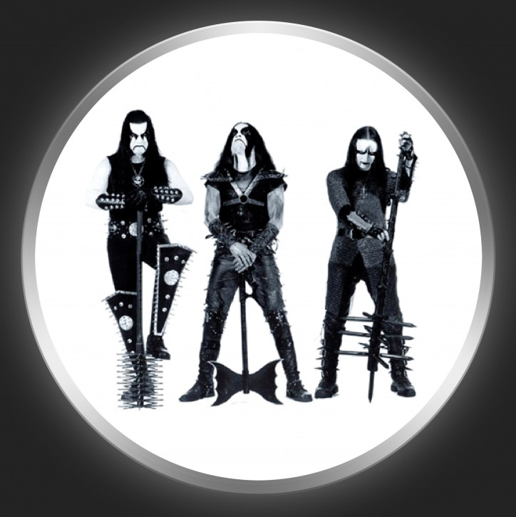 IMMORTAL - Band Photo On White Button