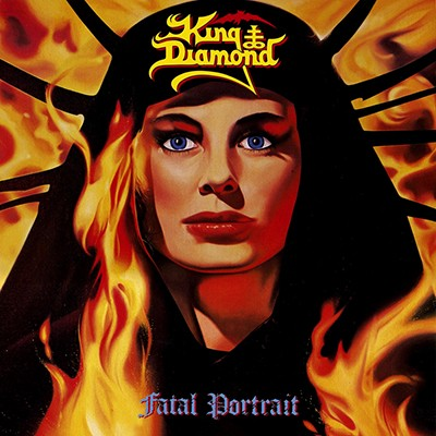KING DIAMOND - Fatal Portrait LP (Clear Blue / Red Marbled)