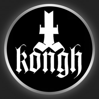 KONGH - White Logo On Black Button