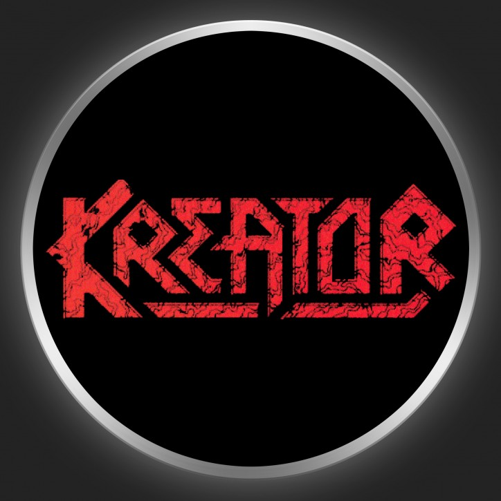 KREATOR - Red Logo On Black Button