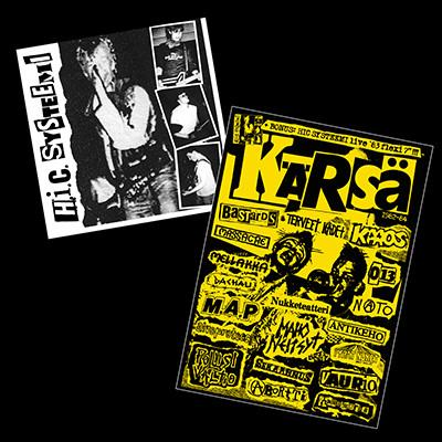 """KÄRSÄ - Fanzine + H.I.C. SYSTEEMI Live `83 7"""" Flexi"""